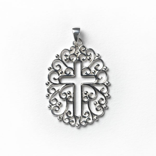 Inspiration Series Filligree Open Cross Pendant