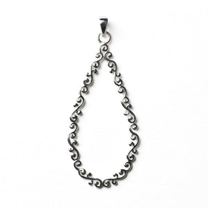 Southern Gates Collection Courtyard Series Open Teardrop Pendant