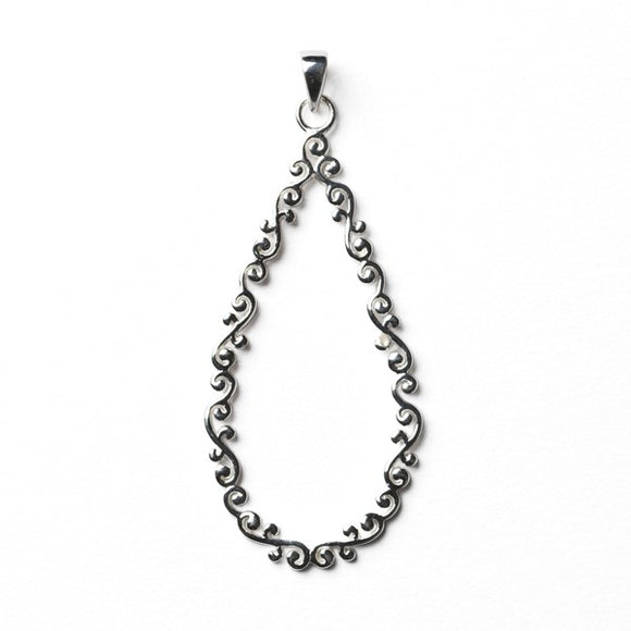 Courtyard Series Open Teardrop Pendant