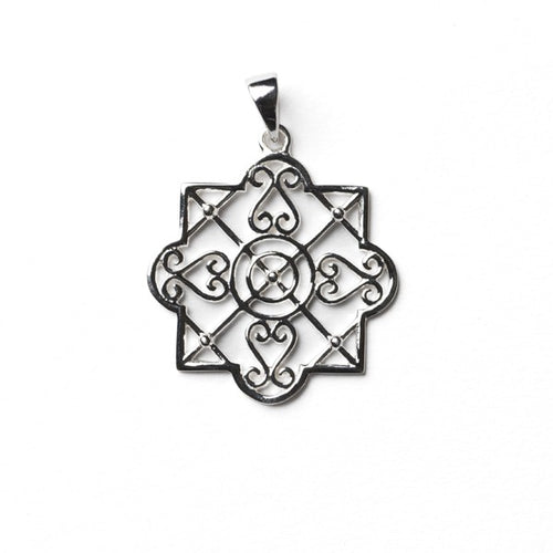 Southern Gates Collection Terrace Series Heart Scroll Trellis Pendant