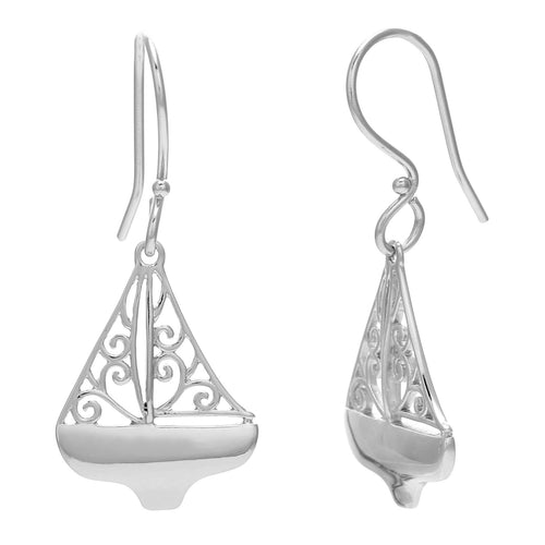 Southern Gates Harbor Series Sailboat Earrings