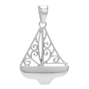 Southern Gates Harbor Series Sailboat Pendant and Chain