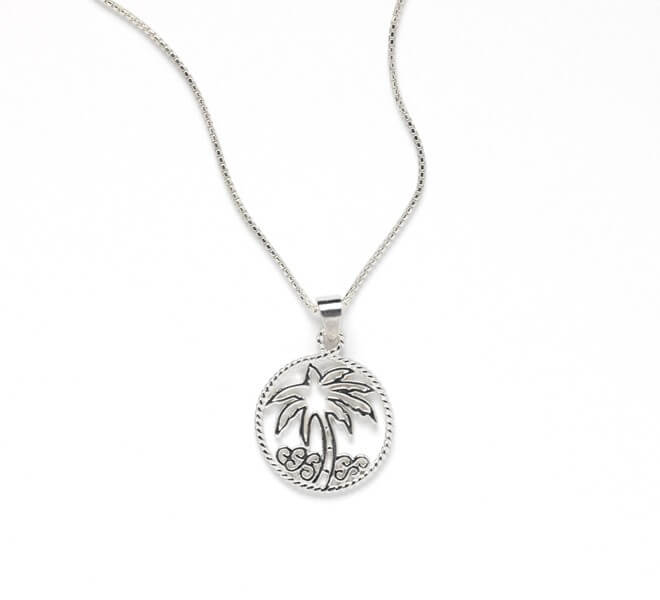 Harbor Series Palm Tree Pendant and Chain
