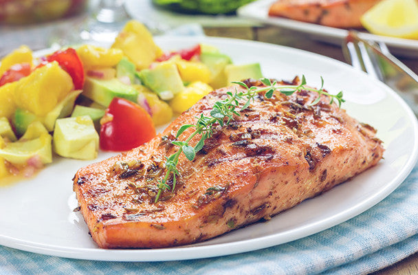 Roasted Salmon with Fresh Mango Salsa