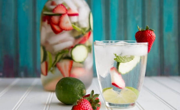 fruit infused detox waters strawberry lime cucumber mint