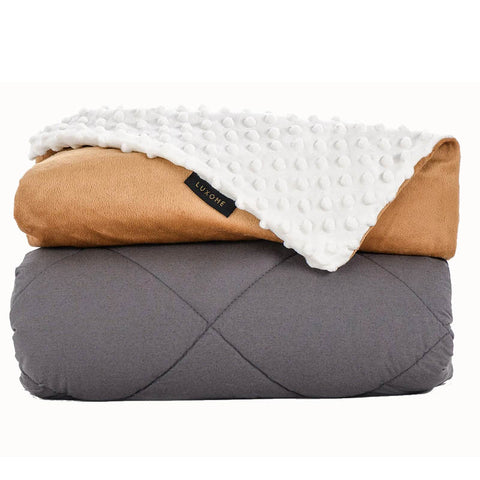 removable cover weighted blanket luxome