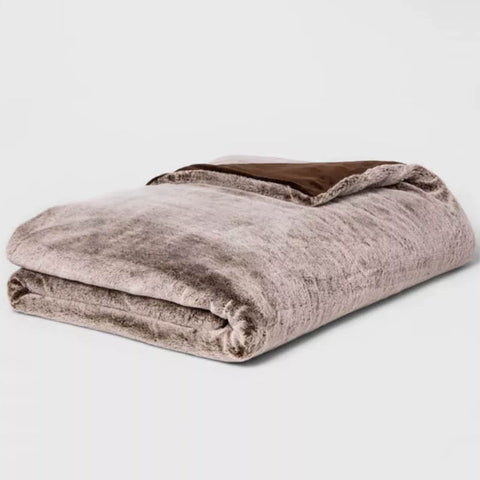 faux fur weighted blanket target