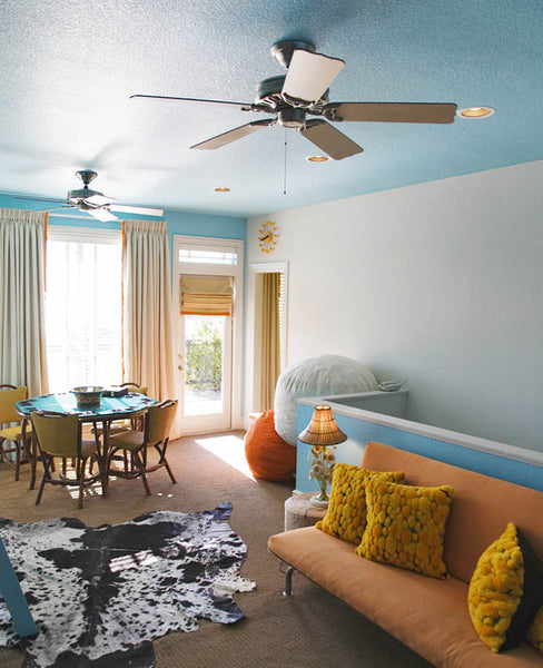 interior with ceiling fan spring cleaning checklist
