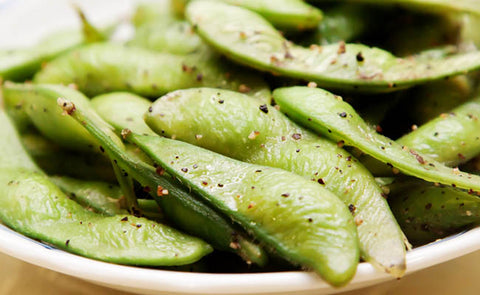 healthy high protein snacks on the go edamame