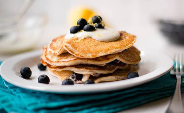 blueberry lemon protein pancakes superfood breakfast recipes