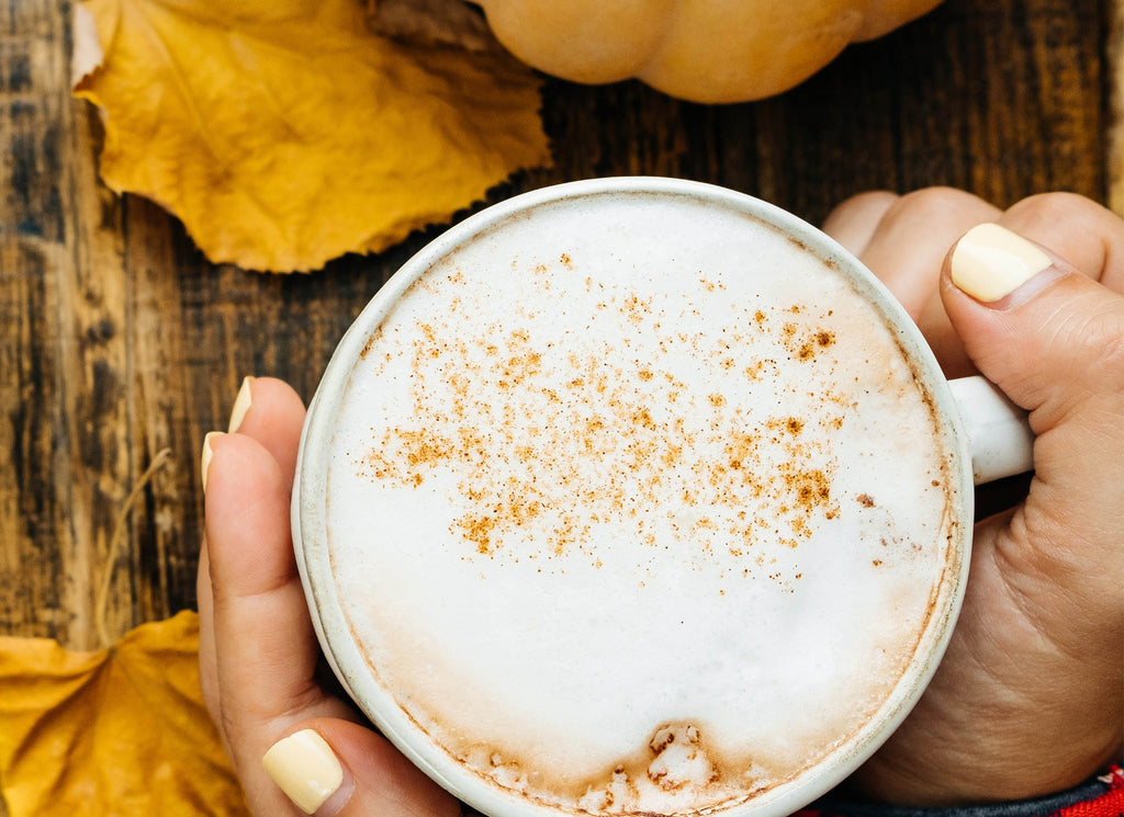 adaptogenic pumpkin spice drink latte vegan