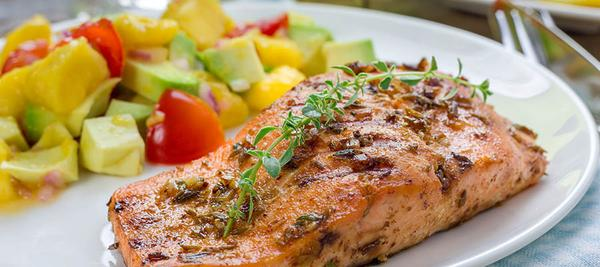 roasted salmon fresh mango salsa healthy dinner