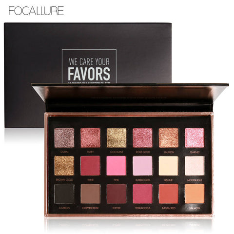 FOCALLURE Favors 18 Colours Eye Shadow Palette