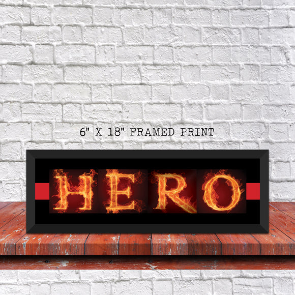 Firefighter Letter Art Hero