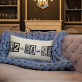 Date Pillow Black & White Numbers