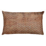 brick pillow decor
