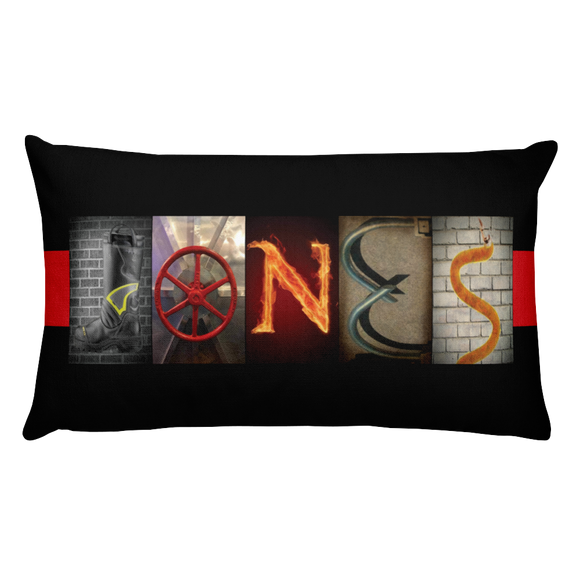 Firefighter Name Letter Art Pillow