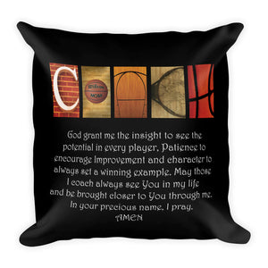 coaches prayer pillow