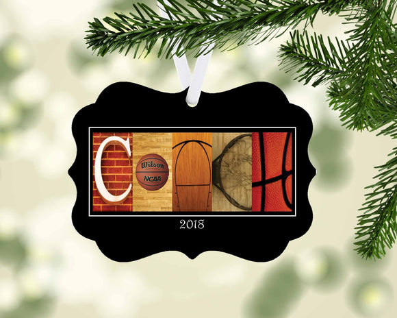 Basketball Coach Ornament Metal