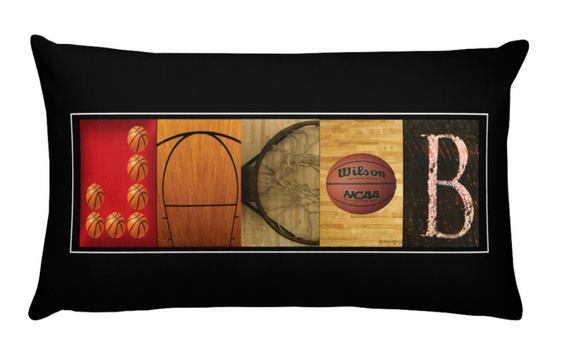 basketball pillow room