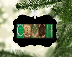 baseball coach ornament
