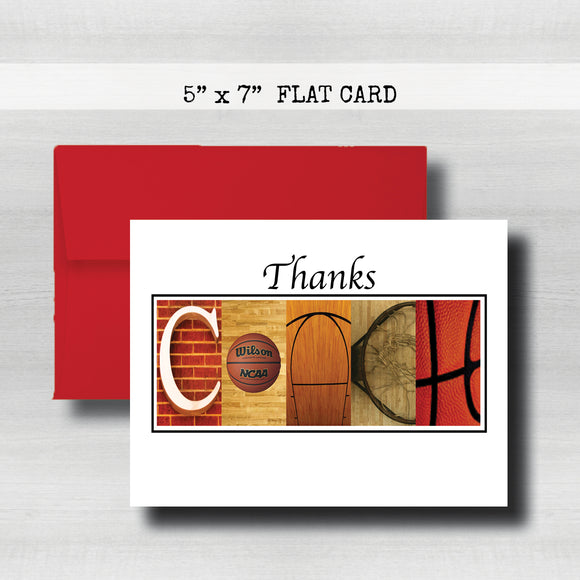 Basketball Coach Thank You Card~ Cards ~ Flat Cards