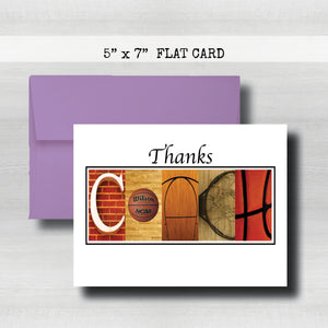 Basketball Coach Thank You Card ~ Flat Cards