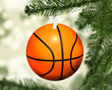Basketball Christmas Ornament Metal