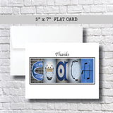 Hockey Blue Coach Thank You Card~ Cards ~ Flat Cards