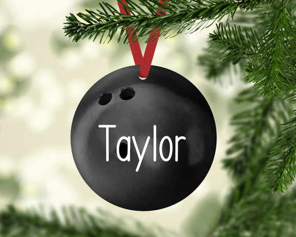 Bowling Christmas Ornament Canvas