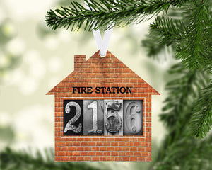 Firefighter Home Ornament Metal