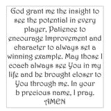 CheerLeader Coach Prayer Verse-Red