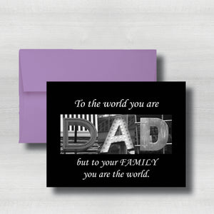 "Regular Fathers Day Card~ Cards ~ Flat Cards ~ 5"" x 7"""