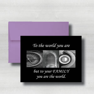 "Car parts Fathers Day Card~ Cards ~ Flat Cards ~ 5"" x 7"""