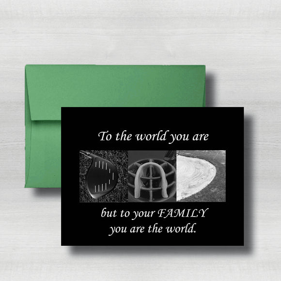 Golf Fathers Day Card~ Cards ~ Flat Cards ~ 5