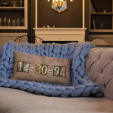 Date Pillow Personalized Brick