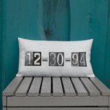Date Pillow Custom