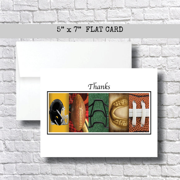 Football Coach Thank You Card~ 1 Card ~ Flat Cards