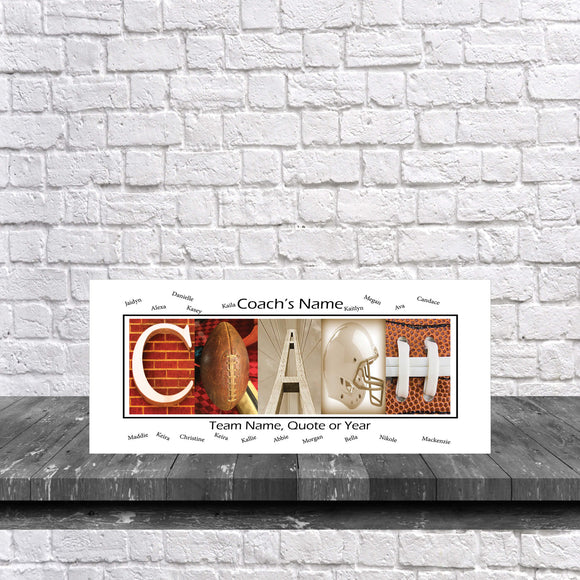 Football Coach Team White Background