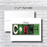 Golf Coach Thank You Card ~Cards~ Flat Cards