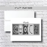 Hockey Grey Coach Thank You Card~ 1 Card ~ Flat Cards