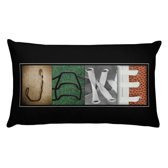 football decor pillow