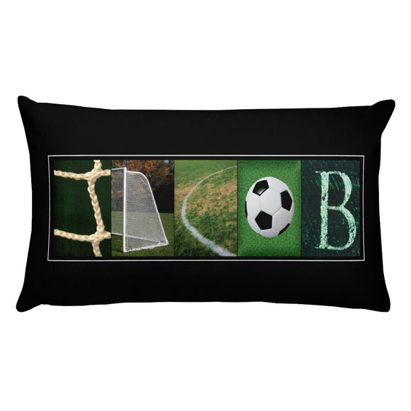 soccer pillow art
