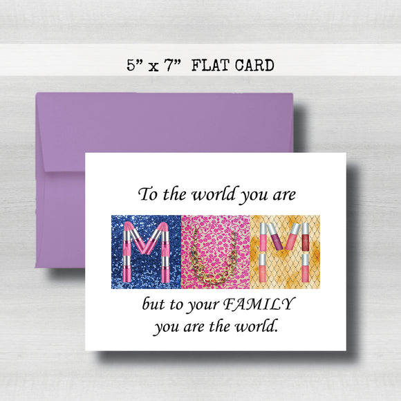 MUM  Day Card~ Cards ~ Flat Cards
