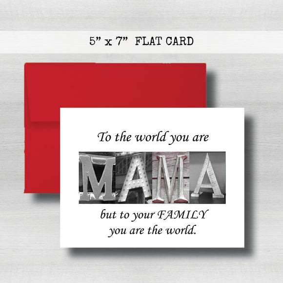 Mama Card - Happy Mother's Day Card~ Cards ~ Flat Cards