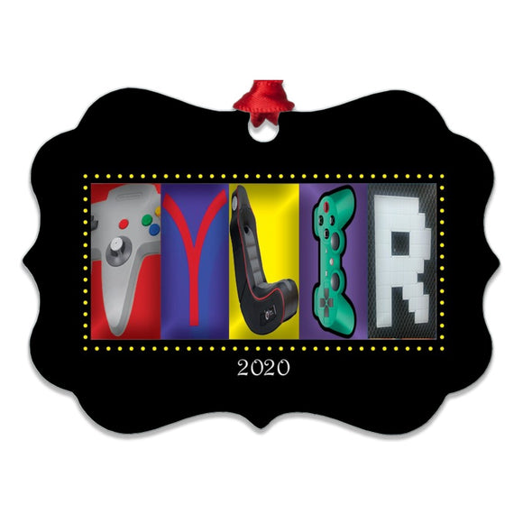 Video Letter Art Name Ornament Metal