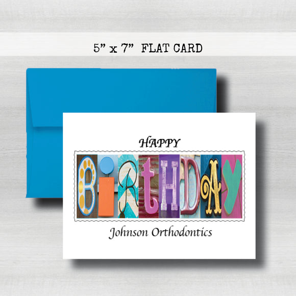Corporate Personalized Birthday Card ~ Flat Cards ~Dentist Doctor