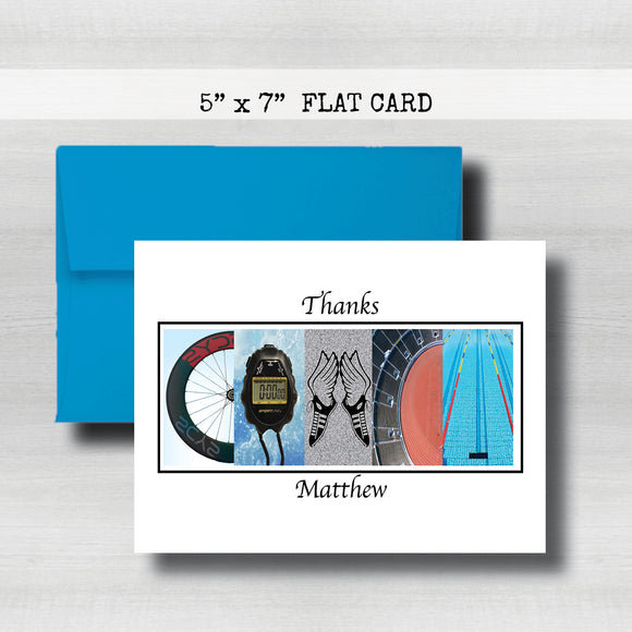 TriAthlon~ Coach Thank You Card ~ Cards ~ Flat Cards