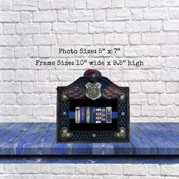 Police Officer Frame with Personalized Print