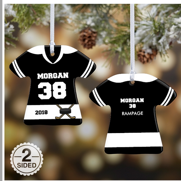 Hockey Jersey Ornament Christmas Ornament Metal